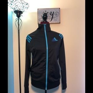 Black and Blue Adidas Jacket